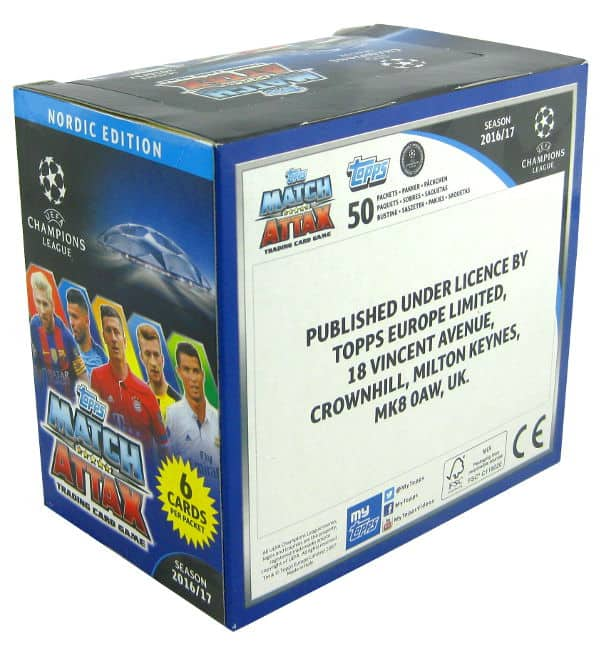 Topps CL Match Attax 2016 / 2017 Nordic Edition 300 cartes