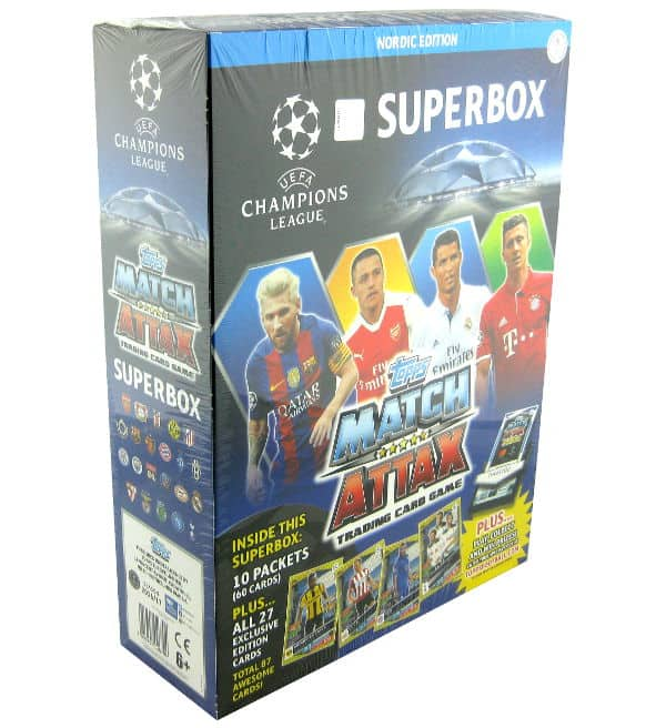 Topps CL Match Attax 16 / 17 Nordic Edition Superbox