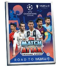 Topps CL Match Attax Road To Madrid 19 Classeur de cartes